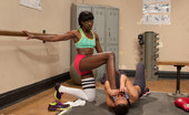 80146 Foot Worship Beautiful Athletes, Ariel X and Ana Foxx, Sensually worship each other's pedicured toes in a hot and sweaty lesbian gym fantasy!!