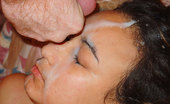 Facial Abuse Ashlee Arabian slut is face fucked and covered in baby batter