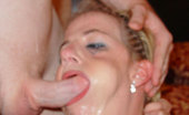 Facial Abuse Bambi Ditzy blonde gets face fucked & takes mega amounts of cum to the face
