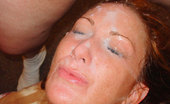 Facial Abuse Karina 80218 Sassy Karina gets her sass removed by 3 loads to her face