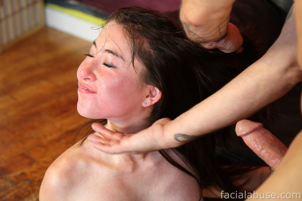 Pretty Teen Getting Her Face Extremely Fucked