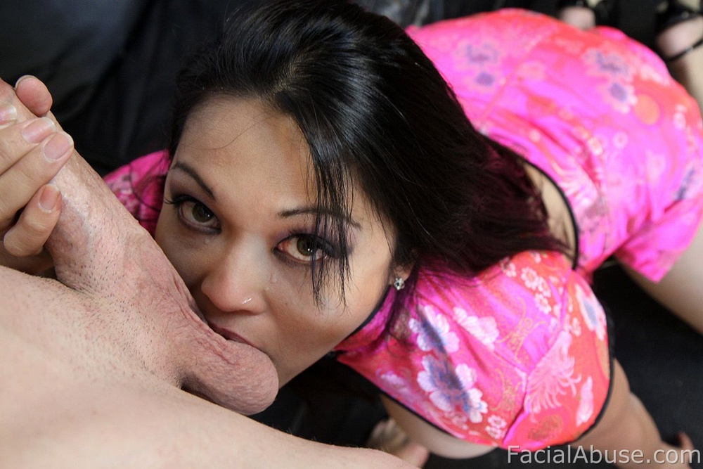Asian skank jayna oso chokes on a massive schlong 7