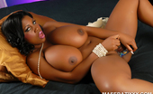Busty Ebony Goddess Maserati XXX Solo Masturbation Maserati XXX stuffs her tight pussy with toys