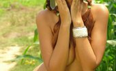 Karla Spice goes green outside and strips it all down