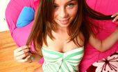Pure 18 alexis This cute brunnette teenie gets her first on camera facial in these hot 18 yr old photos