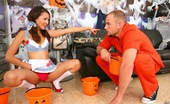 Pure 18 candy Check out this super hot holloween orange panties babe give her pussy for treats in this hot reality pic set
