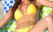Bikini Riot Erica Ellyson Erica Ellyson Gold Thong Bikini
