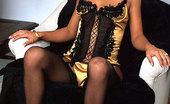 Mariah Milano Stockings garters corsette Sexy In Stockings Garters Heels And Corset!