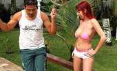 Mike In Brazil sheyla Red head brazilian babe sheyla gets power drilled in these hot outdoor bikini fucking pics