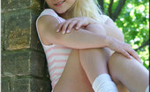Sexy Pattycake Cute Blonde Teen In Tight Sundress