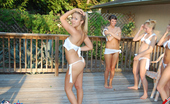 Brooke Marks Private Wet T-Shirt Contest With Avery Rachel And Misty