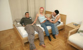 Fling.com This hot 3 way action is all caught on tape while this blonde catches a nice hot facial in here