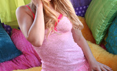 Lexi Belle Stripping Her Nightgown And Masturbating