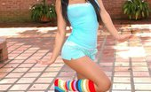 Gigi Spice Has Some Fun Her Rainbow Socks