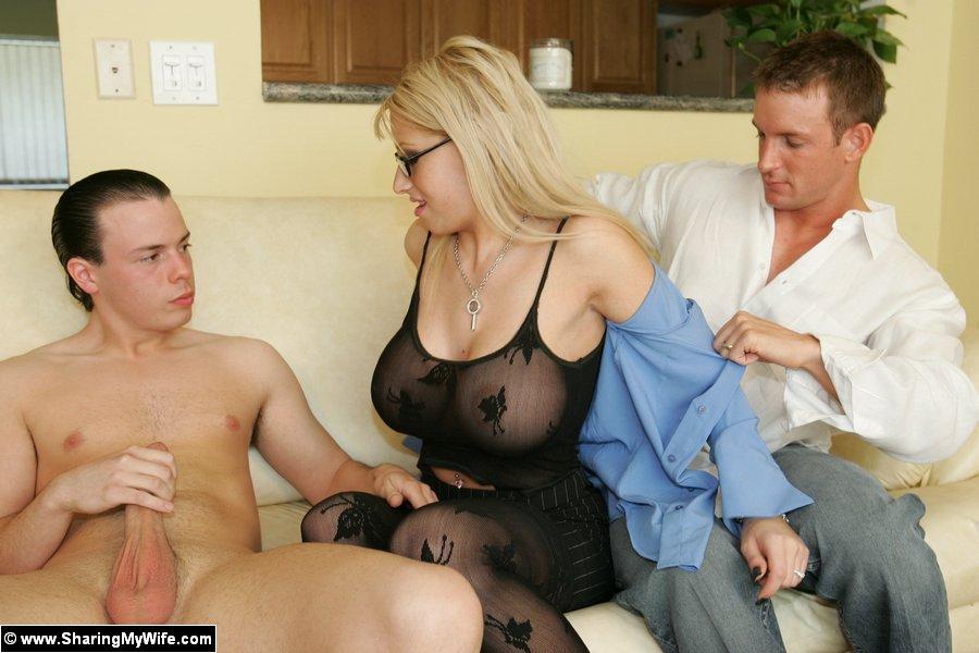 Busty Blonde Teen Threesome