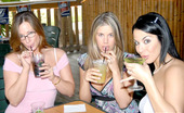MILF Next Door savannah Savannad and her girls hit up the bar and get preped for some hot lesbian dildo fucking in these pics