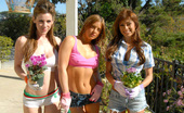 MILF Next Door mia These 3 hot milfs show us how they like to get down after a long day in the yard in these hot pics