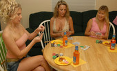 MILF Next Door kendra These 3 milfs are gettin naked during poker and getin wet during the rug munching