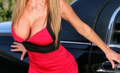 Muffia Amazing hot long leg big tits nikki benz rides her limos cock in these hot limo fucking cumfaced pics