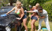 Muffia Smoking hot alanah rae gets her amazing bosy soaked up in these hot lesbian car wash outdoor fuck pics