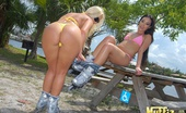 Muffia Smoking hot bikini lesbians pounded hard in this hot sucking and lesbian fucking bikini pool party