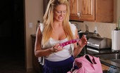 Cherie DeVille I Need A Phone My car broke down. Luckily I found someone who was home. But the most embarrassing thing ever happened... My dildo fell out of my purse on the counter!