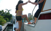 Captain Stabbin veronika Hot thick brunnette babe takes it in the ass on the boat