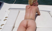 Captain Stabbin sofia Hot blonde takes off her bikini and sunbath at the yacht