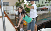 Captain Stabbin mellissa Hot boat action turns into a nice double team in these pics