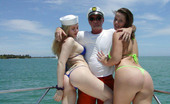 Captain Stabbin madison Chubby chicks in bikini come aboard and gets popped in the boat