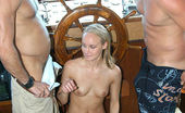 Captain Stabbin leea Cute blonde babe gets down and dirty with these guys on her first boat ride
