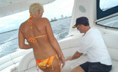 Captain Stabbin bonnie Short haired blonde trowed at the sea after she gets fucked on sail