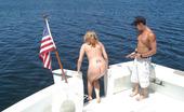 Captain Stabbin robin Pretty girl in bikini shows her shaved pussy with hard clitty