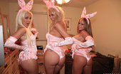 Real Slut Party Blondie Boom And Desray And Nikki Delano 104210 So this week we were supposed to have an Easter party, but it seems like it was just a trick by the guys to get us girls all dressed up like sexy little bunnies. Anyways, we had a party regardless of the stupid boys and tortured them with non stop sex! So