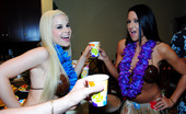 Real Slut Party Abagelle Banks And Angel Cakes And Whitney Taylor The girlfriend and I head to a Hawaiian themed party hosted by an old friend. Shit gets crazy almost immediately! Before you know it, we're in the middle of the hottest pussy-pushing action anyone has ever seen! What a night!