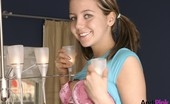 Andi Pink Teen has some soda pop