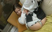 Emily 18 Hot Teen In A Blakc And White Tight Pants