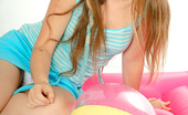 Emily 18 Summer Teen Fun Striptease The Beach Ball And The Pool Float Give The Gallery A Summer Theme And 18 Gives Us A Thrill By Taking Her Clothes Off So You Can See The Hot Body Underneath.