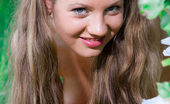 Amour Angels Amina HUNT Perfect long haired busty teen cutie taking off her clothes and catching a big butterfly.