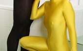 Spandex Porn Devil Yellow dressed Devil is giving this guy in black suit such a hot blowjob She must be blowing his mind! Wouldn't you love to be this guy