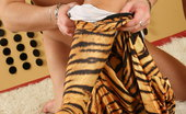 Spandex Porn Brandy Brandy giving a blowjob in tiger spandex outfit