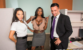 One Part Keiran, Two Parts Tits Big Tits At Work Asa Akira And Diamond Jackson Asa loves getting a little office nookie from her coworker Keiran, and she doesn't care who sees, no...