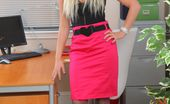 Only Tease Zuziana Zuziana in tight pink pencil skirt revealing a gorgeous pink thong