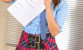 Only Tease Michelle X Michelle teaches a lesson in school uniform & mini skirt