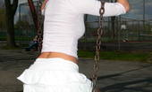 Tiffany Preston Swinging in the park I like swinging in the park, wearing short skirt and tiny thongs letting everyone can see my big butt