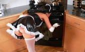 Tiffany Preston My naughty French maid outfit You will be served in this photo set guys, Enjoy watching me in my sexy Maid outfit doing intense kitchen cleanup!