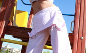 Tegan Brady Busty Teen Plays With Her Big Boobs At The Playground