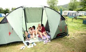 Club Seventeen Christina And Jacqueline And Sara And Tessa Four very handsome camping teenagers sharing a big tent