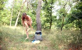 Club Seventeen Bella Nude sweetie publicly petting her stunning teenage body