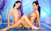 Club Seventeen Rihanna Samuel Two sexy teen lesbians massaging their naked moist skin